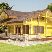 Проект деревянного дома, артикул 23 фото