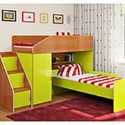 Кровать двухъярусная Легенда 11.7 ольха/лайм фото