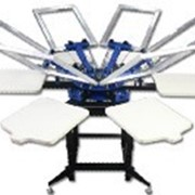 Механический шелкотрафаретный станок карусельного типа 400х500мм (6/6) фото