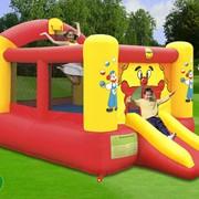 Мега-батут Веселый клоун с горкой Happy hop фото