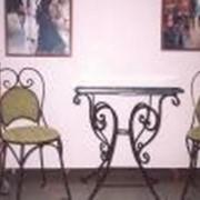 Столы и стулья металлические фото