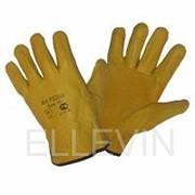 "Перчатки кожаные ""Драйвер-Стандарт"" желтые фото"