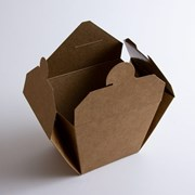 Крафтовая упаковка для лапши, риса, суши  фото