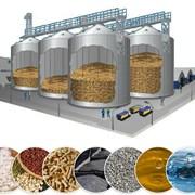 Силосы для хранения зерна. Комплекс зернохранилища фото