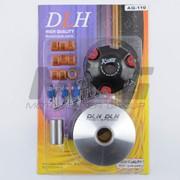 Вариатор Передний тюнинг Suzuki AD110 ролики латунь 9шт, палец, пружины сцепления DLH фото
