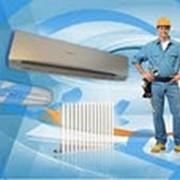 Монтаж систем кондиционирования,вентиляции и отопления. фото