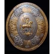Щит панно Георгий Победоносец размер 840-730мм фото