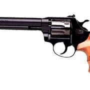 Револьвер ALFA 461, никелированный, деревянная рукоятка фото