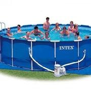 Каркасный бассейн METAL FRAME INTEX 305х76см фото