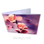 Прикольная обложка для зачётки Весенний сад фото