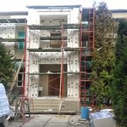 Леса рамные строительные для фасадных работ, аренда Киев фото