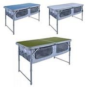 Стол складной ССТ-3П (пластик с полкой) голубой ССТ-3П фото