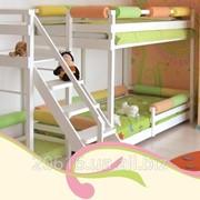 Кровать двухъярусная деревянная ТМ Малеча фото