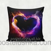 Подушка декоративная Black Heart 35х35 cм 06 фото