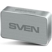 Колонка портативная Sven PS-85, 5 Вт, bluetooth, FM, USB, micro USB,серебро фото