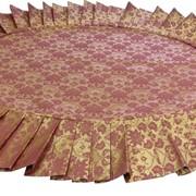 Скатерть с юбкой ОВАЛ, складки 1к3 на стол Размером 112х72 см, из ткани Мати фото