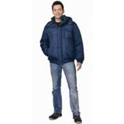 Куртка Олимп короткая мужская синяя с черной окантовкой фото
