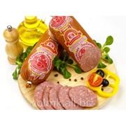 Колбаса варёно-копчёная Сервелат Любимый, салями высший сорт фото