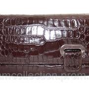 Сумка-клатч из кожи крокодила (живот), экскл. FAM 042 Brown фото