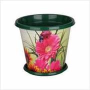 Горшок с поддоном Цветочный блюз 2л фото