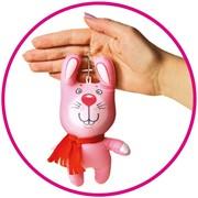 """Антистрессовая игрушка-брелок """"Звери в шарфах.Зайчик"""" фото"""
