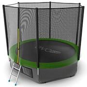 Батут с внешней сеткой и лестницей EVO JUMP External 10ft (Green) + Lower net. фото