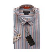 Рубашка мужская приталенная ELIZ 100% хлопок фото