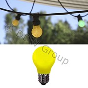 Лампочка E27 LED желтая 230V фото