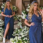 Платье женское макси (3 цвета) ТК/-1241 - Темно-синий фото