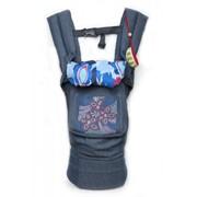 """Слинг эргономичный рюкзак-переноска """"My baby"""" синий джинс фото"""