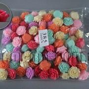 Розы акриловые в браслет в асс. 2,2см/100шт арт.385 4211 фото