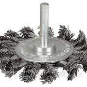 Щетка Stayer коническая для дрели, витая стальная проволока 0,3мм, 100мм Код:35230-100 фото