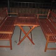 Аренда (прокат) комплекта садовой деревянной мебели фото