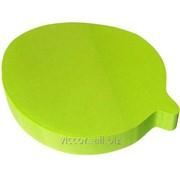 Стикеры для заметок фигурные с липким слоем, диалог, 70 x 70 mm, 100 листиков, неоновый-зеленый, kores K866142 фото