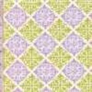 Фиолетово-зеленые ромбы фото