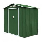 Хозблок Арчер D (2,45х2,67х2,02м) темно-зеленый с бежевым кантом фото