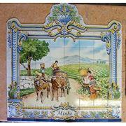 Керамическое панно сбор винограда-mosdec-14 фото