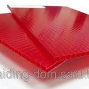 Поликарбонат сотовый 4 мм красный 12 м х 2,1 м фото