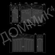 Ворота - вариант 31 фото