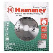 Круг пильный твердосплавный Hammer Csb wd 210мм*48*30/20мм фото
