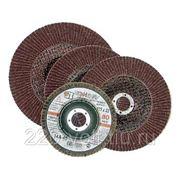 Круг лепестковый торцевой (клт) Луга-абразив Клт1 125 х 22 р 60 (№25) в индивидуальной упаковке фото