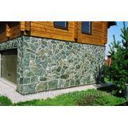 Укладка природного камня.Облицовка стен и цоколя фото