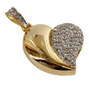 Флешка Влюбленное сердце (золото) 4 Гб, 8 Гб, 16 Гб, 32 Гб фото