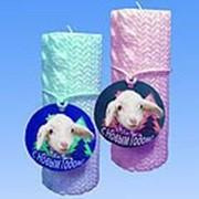 Форма силиконовая Вязанная свечка - подарок от овечки фото