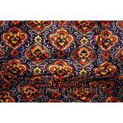 Ткань искусственный бархат с узбекским орнаментом (дакрон) №32 фото