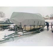 Тент зимнего хранения на катер фото