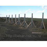 Стойка крепления и монтажа солнечных модулей, размером 3х3 с фундаментом фото