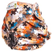 Многоразовый подгузник GlorYes! OPTIMA NEW Пазл 3-18 кг + два вкладыша фото