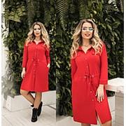 Платье женское с кулиской по талии (6 цветов) ТК/-1237 - Красный фото