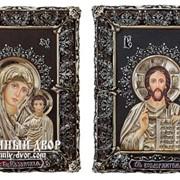 Венчальная Пара Икон Иисус Христос И Божия Матерь Казанская Код товара: ООс-МВГП33 фото